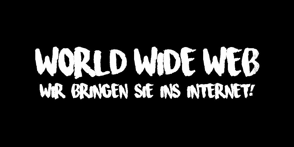 Wir bringen Sie ins Internet